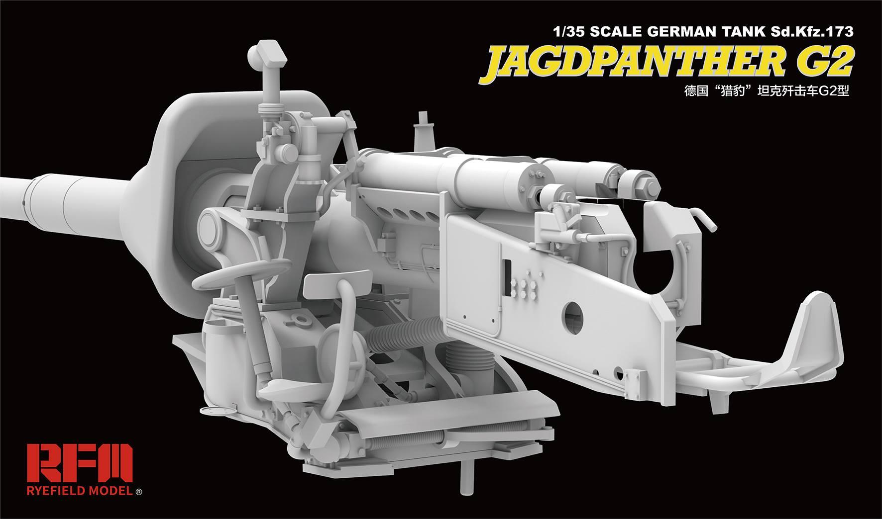 RYEFIELD RM5022 1//35 WWⅡ GERMAN JAGDPANTHER G2 W//FULL INTERIOR PLASTIC MODEL KIT