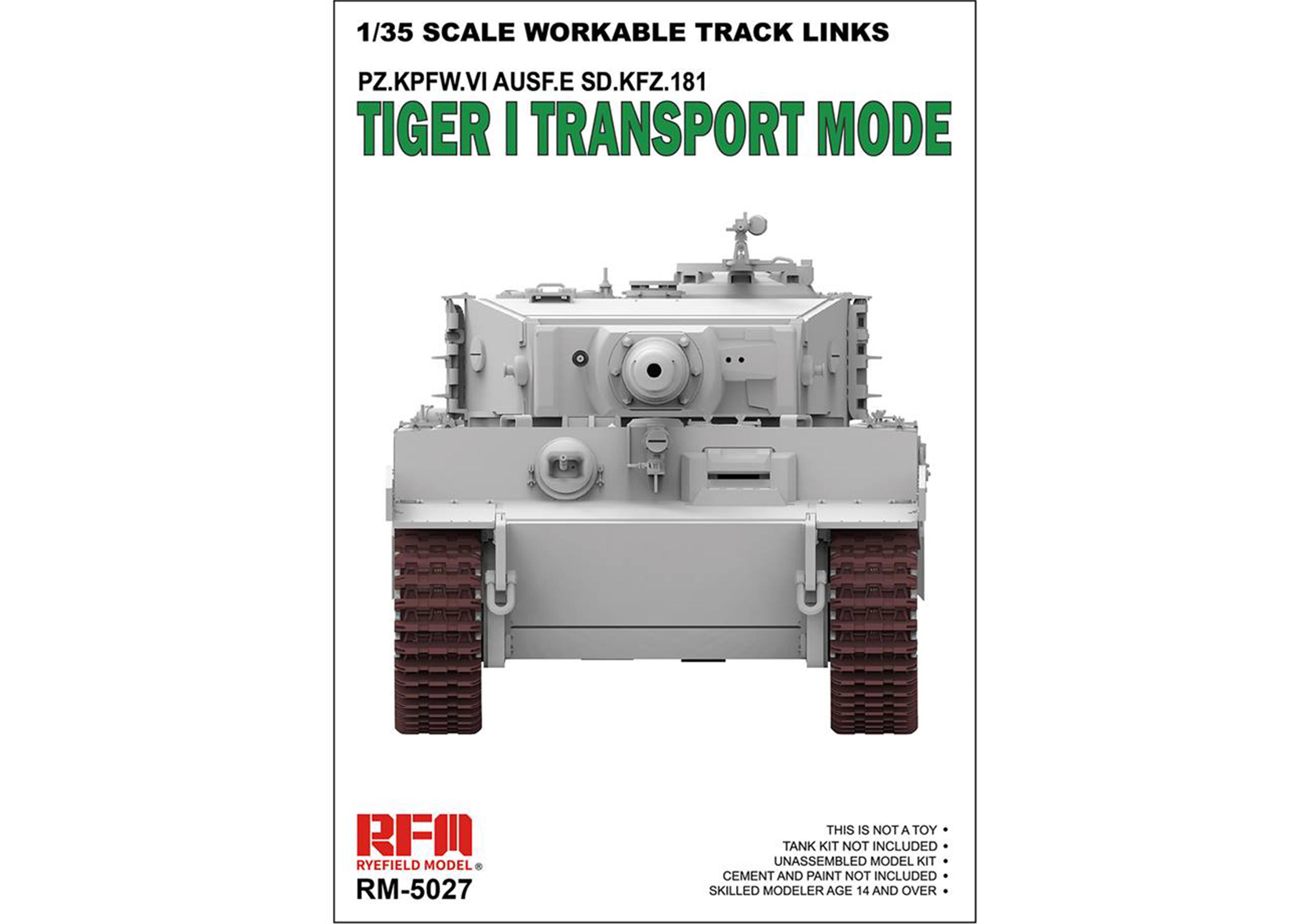 RM-5027 TIGER I TRANSPORT MODE WORKABLE TRACK LINKS