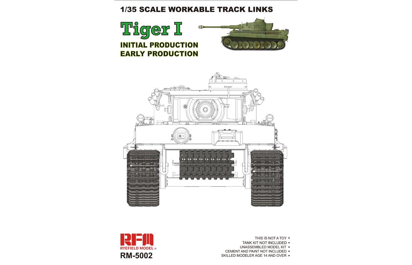 RM-5002 WORKABLE TRACKS FOR TIGER I