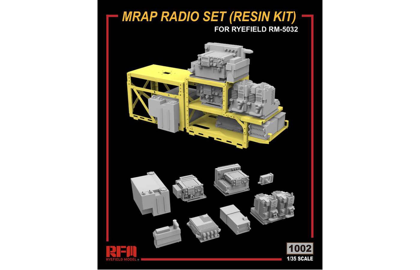 RM-1002 MRAP RADIO SET(RESIN KIT)