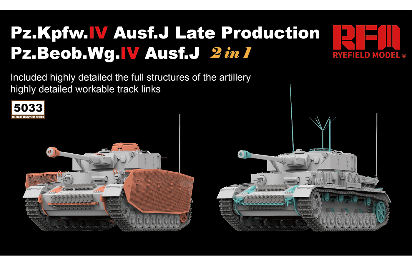RM-5033 Pz.Kpfw.IV Ausf.J Late Production Pz.Beob.Wg.IV Ausf. J 2 in 1