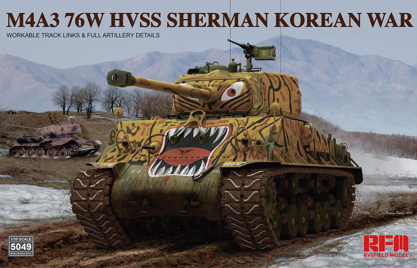 RM-5049  M4A3 76W HVSS SHERMAN KOREAN WAR