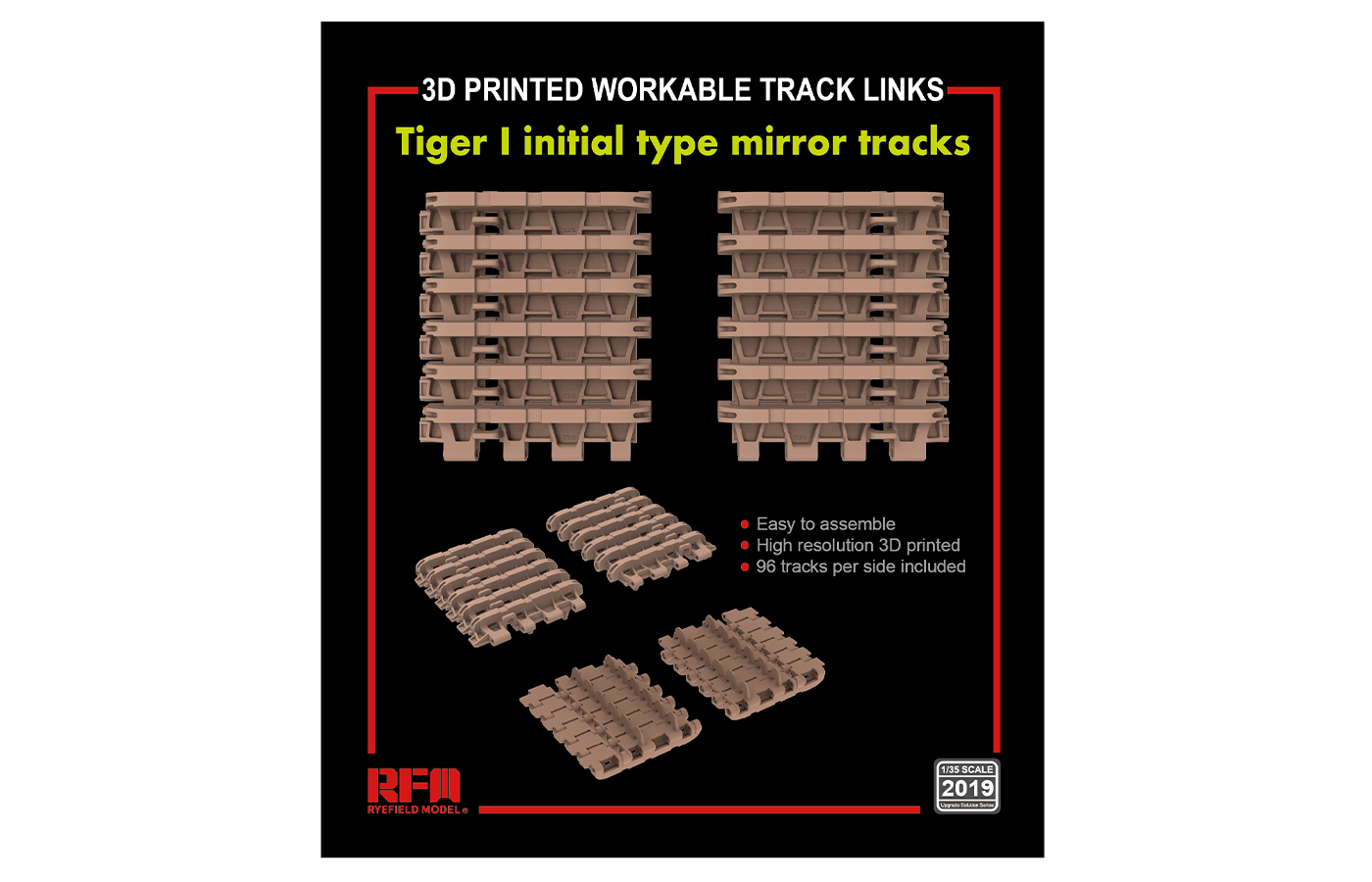 RM-2019 TIGER I initial type mirror tracks